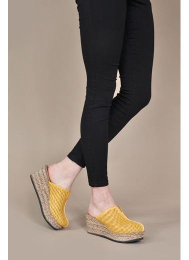 Vizon Ayakkabı Terlik Hardal
